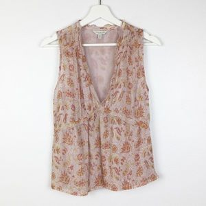 Lucky Brand Floral & Paisley Sleeveless Top Small